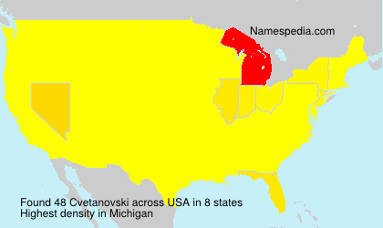 Surname Cvetanovski in USA
