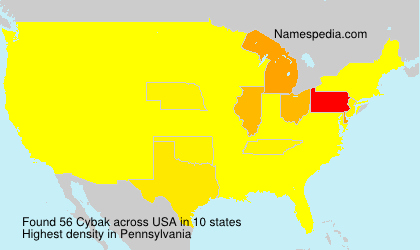Surname Cybak in USA