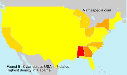 Surname Cylar in USA