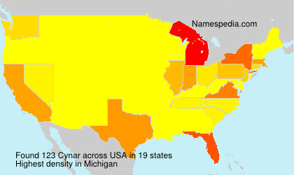 Surname Cynar in USA