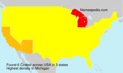 Surname Czabot in USA