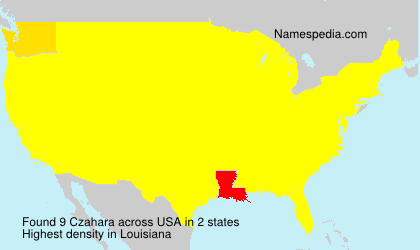 Surname Czahara in USA