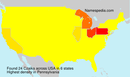 Surname Czaika in USA