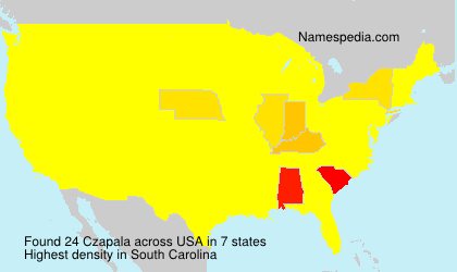 Surname Czapala in USA