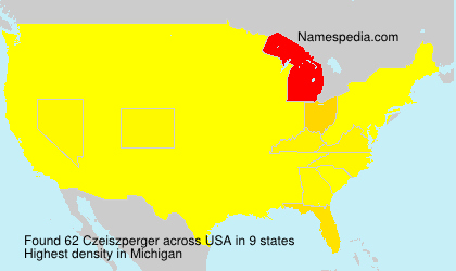 Surname Czeiszperger in USA