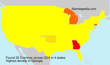 Surname Czentnar in USA