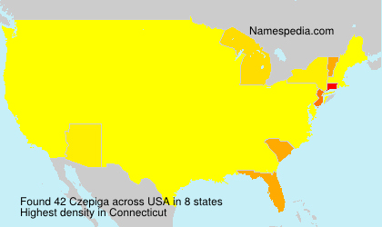 Surname Czepiga in USA