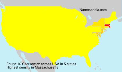 Surname Czerkowicz in USA