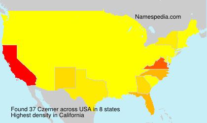 Familiennamen Czerner - USA