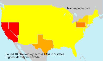 Familiennamen Czerwinsky - USA