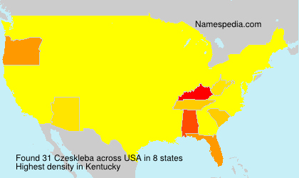 Surname Czeskleba in USA