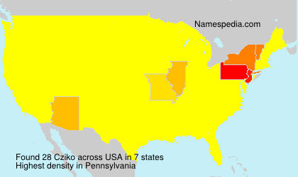 Familiennamen Cziko - USA