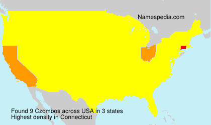 Surname Czombos in USA