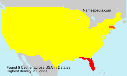 Surname Czotter in USA