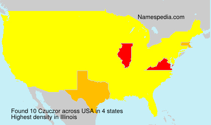 Surname Czuczor in USA