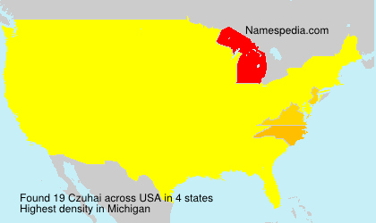 Surname Czuhai in USA