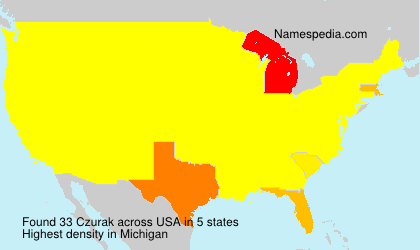 Surname Czurak in USA