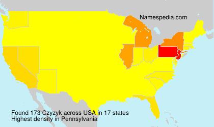 Surname Czyzyk in USA