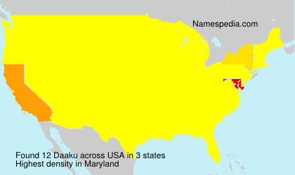 Surname Daaku in USA