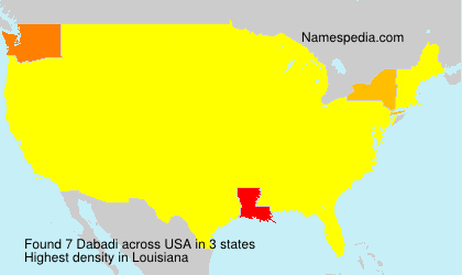 Surname Dabadi in USA