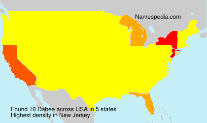 Surname Dabee in USA