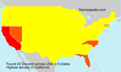 Surname Dacaret in USA