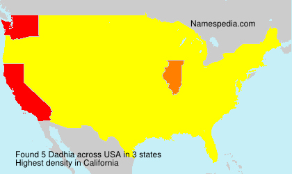 Surname Dadhia in USA
