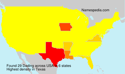 Surname Dading in USA