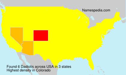 Surname Dadiotis in USA