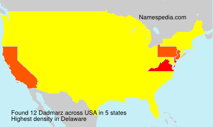 Surname Dadmarz in USA