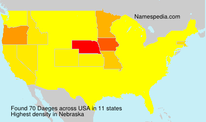 Surname Daeges in USA