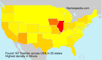 Surname Daehler in USA