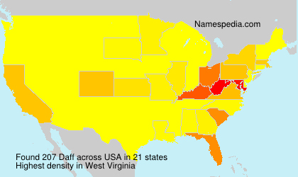 Surname Daff in USA