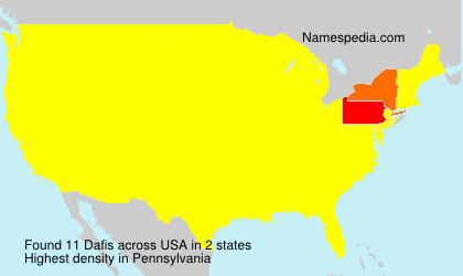 Surname Dafis in USA