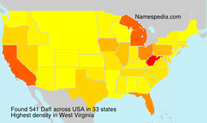 Surname Daft in USA