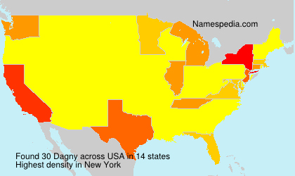 Familiennamen Dagny - USA