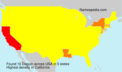 Surname Daguin in USA