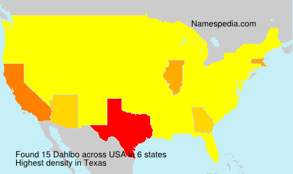 Surname Dahlbo in USA