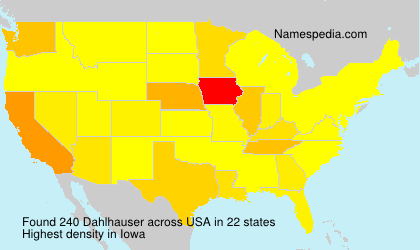 Surname Dahlhauser in USA