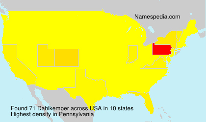 Surname Dahlkemper in USA