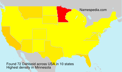 Surname Dahlseid in USA