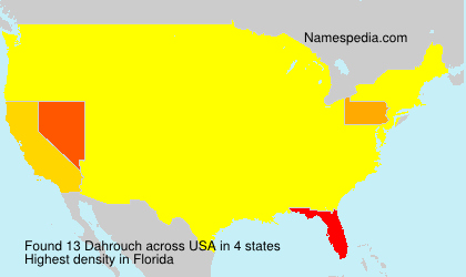 Surname Dahrouch in USA