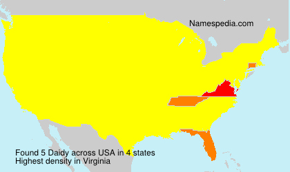 Surname Daidy in USA