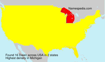 Surname Daien in USA