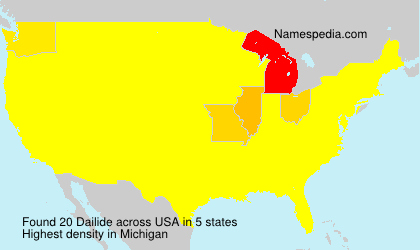 Surname Dailide in USA