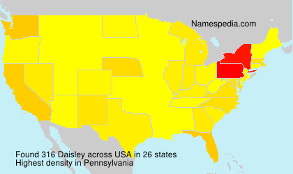 Familiennamen Daisley - USA
