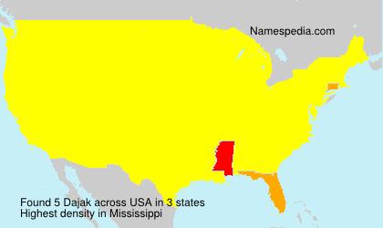 Surname Dajak in USA