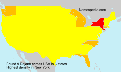 Surname Dajana in USA