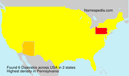 Familiennamen Dajevskis - USA