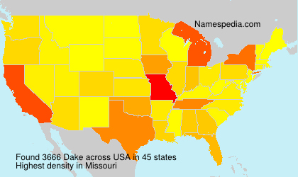 Surname Dake in USA